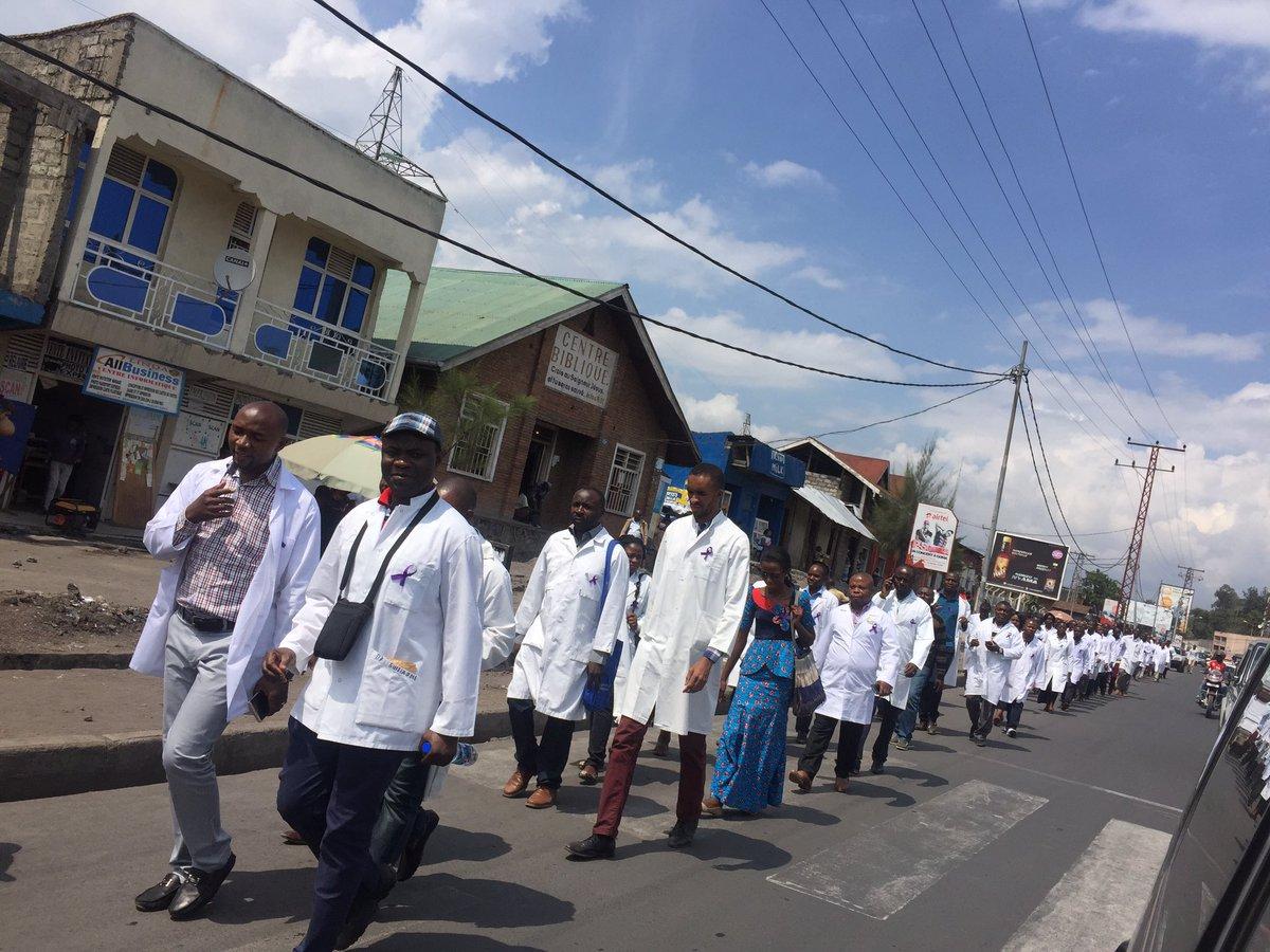 Goma-RDC  : certains médecins ont manifestés le lundi, ils veulent être reconnus pas l'État Congolais