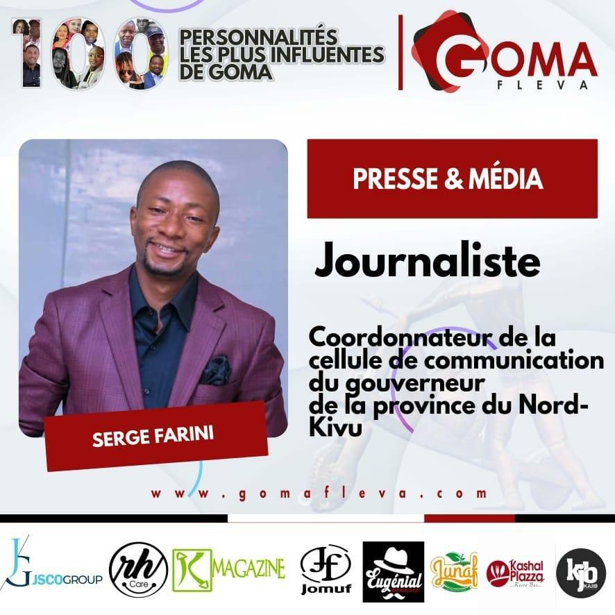 Nord-Kivu : Top 100 des personnalités les plus influentes de Goma, Serge Farini  sur la liste