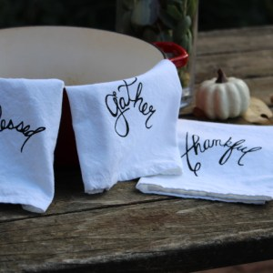 tea-towles-flour-sack-towels-blessed-gather-thankful