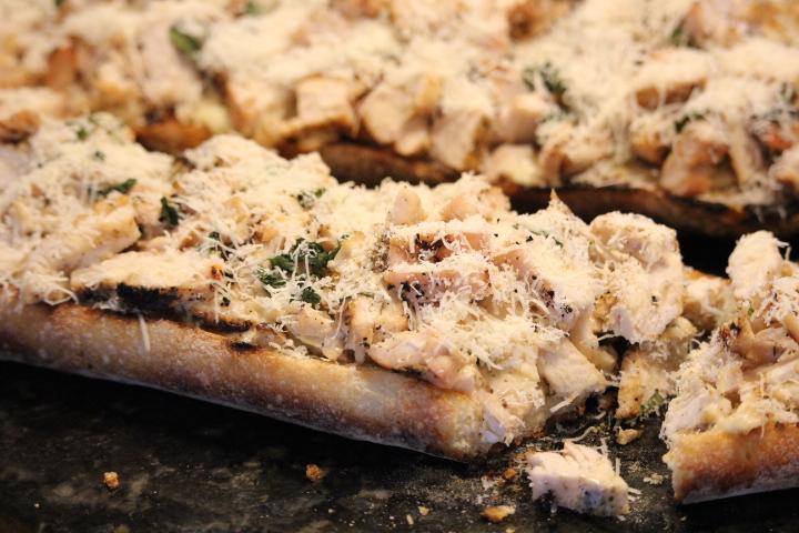 Parmesan Covered Chicken Caesar Bread