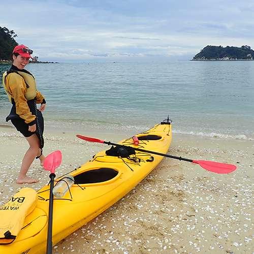 Megan ocean kayaking