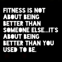 What fitness is not about