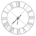 Extra Large White Metal Outline Wall Clock Fizzy Fox Ripley