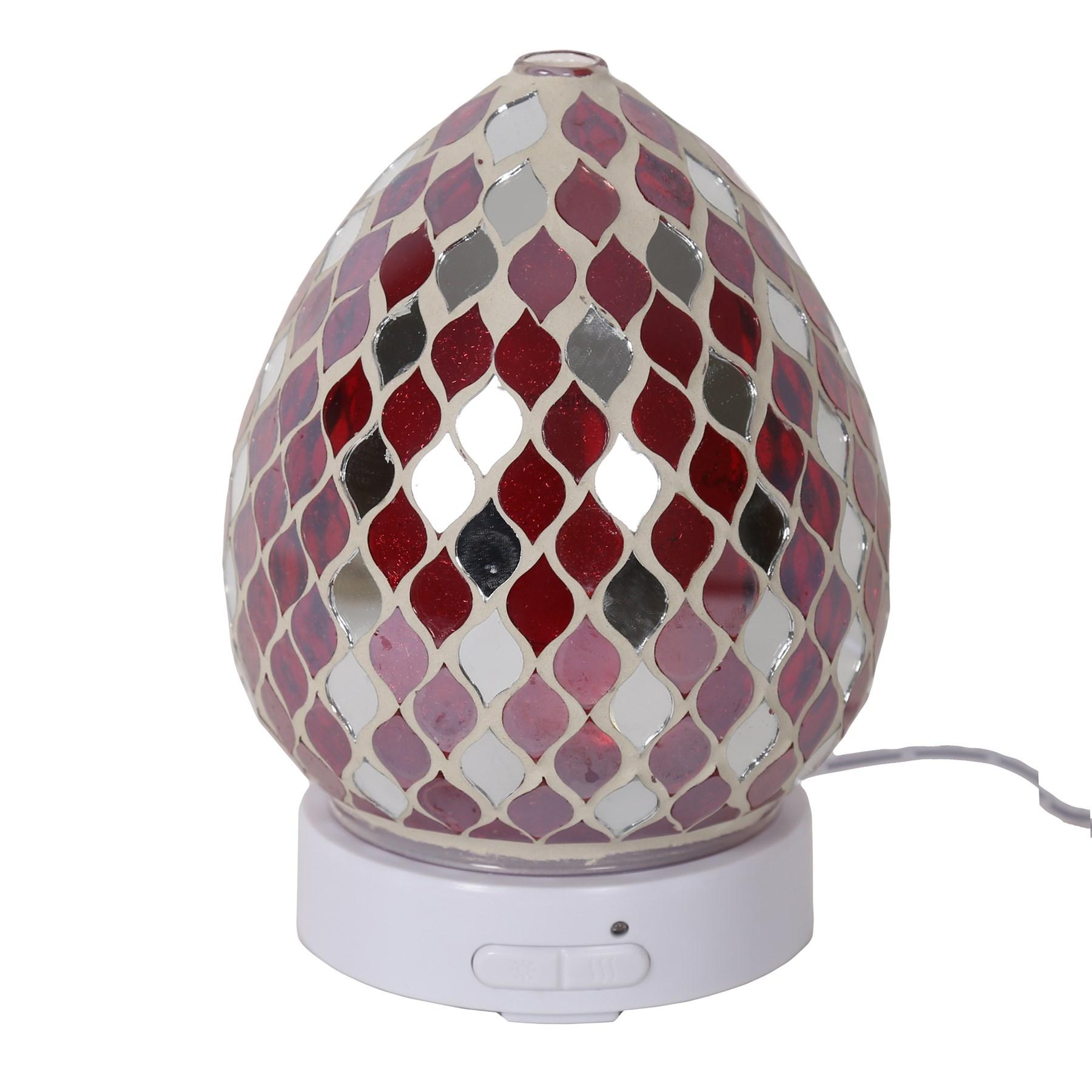 Red Mirror Teardrop LED Ultrasonic Diffuser
