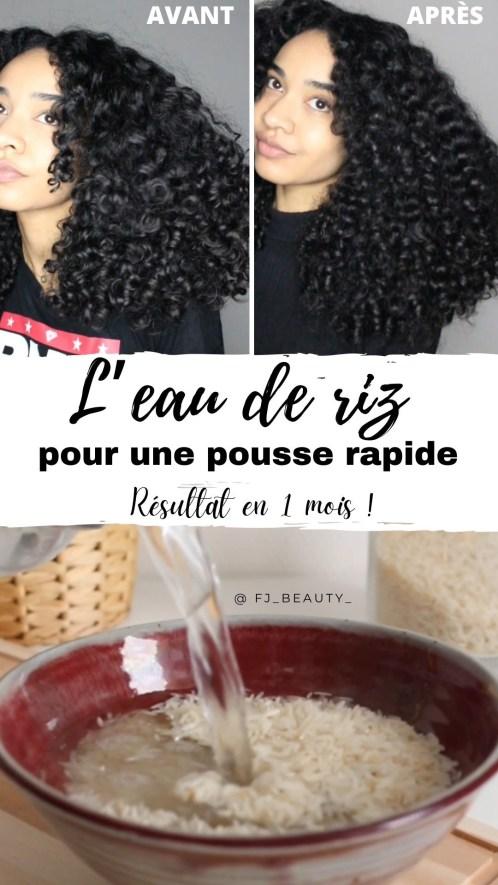 eau de riz pousse cheveux