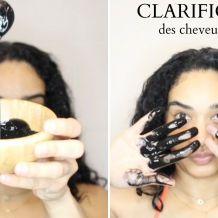 clarification cheveux charbon