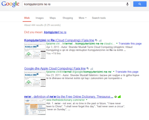 Google kerkim