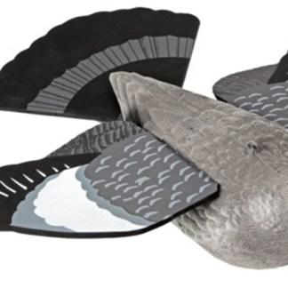 Lokkedue m/bevegelige vinger og hale
