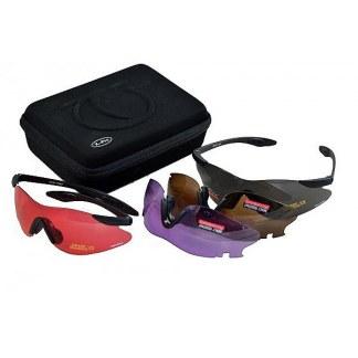 TOP GUN Skytebriller X-Pro m/4 utskiftbare glass
