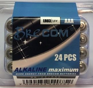 Batteriboks 24stk. AAA-LR03. Brecom