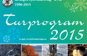 Forsiden på turprogrammet for 2015