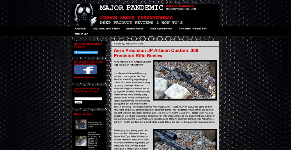 Feddersen JP Artisan Custom .308 Rifle Barrel Review - Major Pandemic