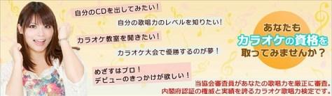 内閣府認証 NPO法人 日本カラオケ歌唱力検定協会HPから引用