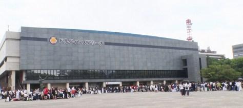 武神「KARATE ALL JAPAN CUP 2019」の会場・ドルフィンズアリーナ(愛知県体育館)には長蛇の列