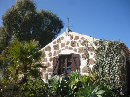 """Das """"El Refugio"""" unterm Eukalyptusbaum Unser Fenster geht zur Straße."""