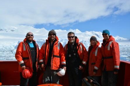 Team Benthos! From right: Clifton Nunnally, Craig Smith, Eric Vetter, McKenna Lewis, Amanda Ziegler.