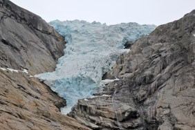The glacier's lower part