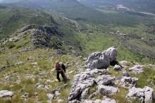 Easy ascent despite rough rock