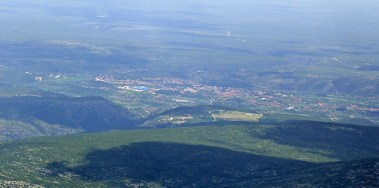 Knin seen from Dinara