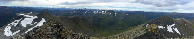 Panorama from Trollvasstinden