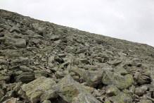 350 vertical meters of boulder...