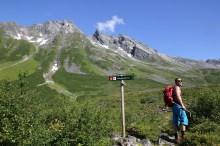 Trail fork. We go left