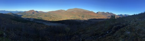 Panorama view from the trail