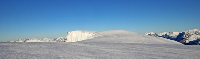 The summit plateau
