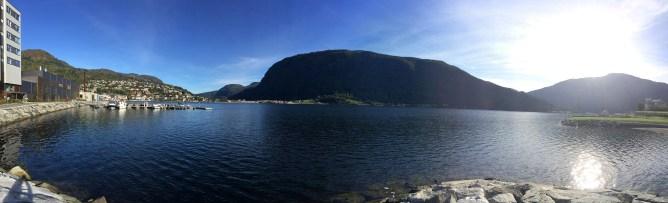 Lunch break in Sogndal