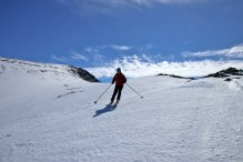 Petter on Rando-skis