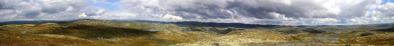 Gloppetjønnhovde panorama (1/2)