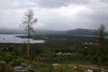 View. Rain showers passing