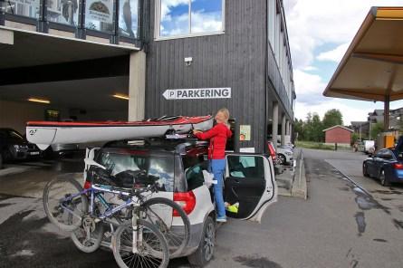 Picking up Anne in Geilo
