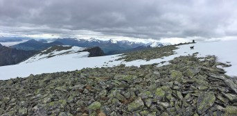 Summit cairn comes into view