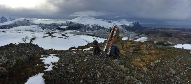 On top of Lyngstadfjellet