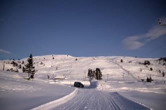 The - relatively short - slalom hill on Utvikfjellet