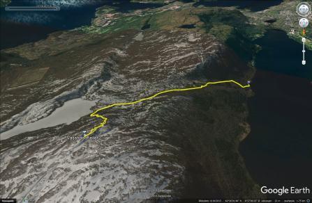 The route from Vasstranda