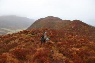 Approaching the top on Ulsettua