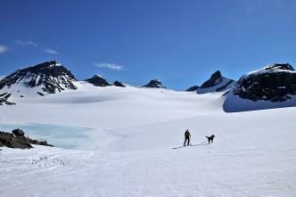 On the glacier. Magic...