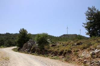 The windmills comes into view