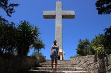 Anne in front of the cross