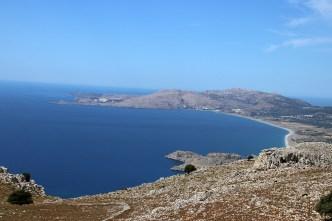 View towards Lindos