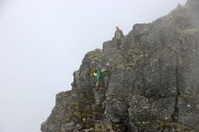 They walked down the rappell point - with no belay
