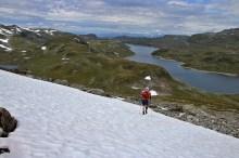 Anne crossing a snowfield