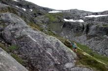 Partly steep terrain