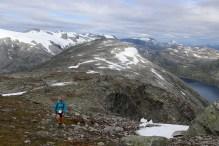 On the ridge to the summit