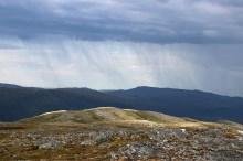 Rain showers in the horizon