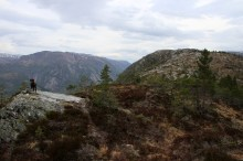On the mountain ridge