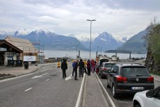 Waiting for the ferry at Hella