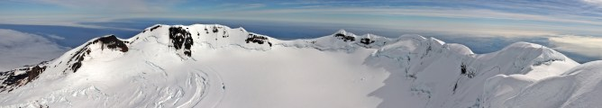 The crater rim